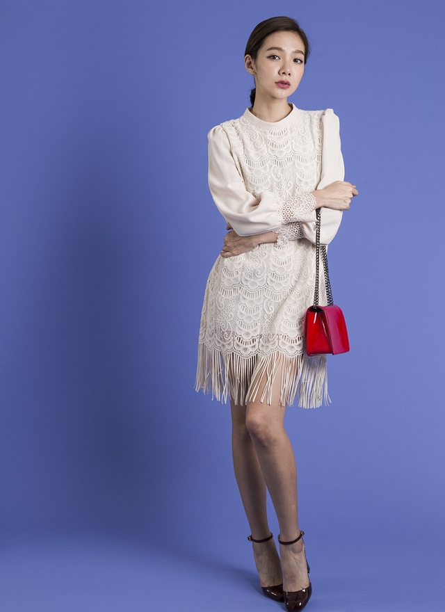 D0275 唯美蕾絲流蘇洋裝