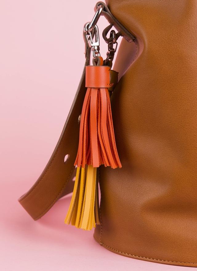 BA0071 咖啡皮革時尚水桶包