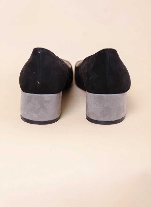 SH0073 高雅特色拼接麂皮跟鞋