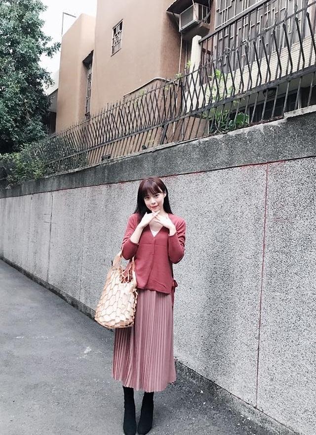 S0464 乾燥玫瑰粉雪紡裙