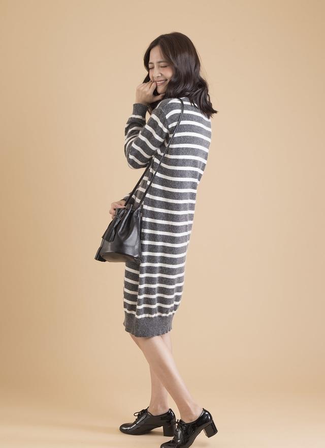 D0266 清新感條紋洋裝