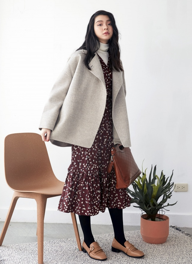 O0468雙釦手工羊毛外套