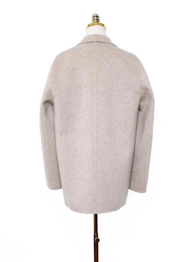 O0450小領柔美手工羊毛大衣