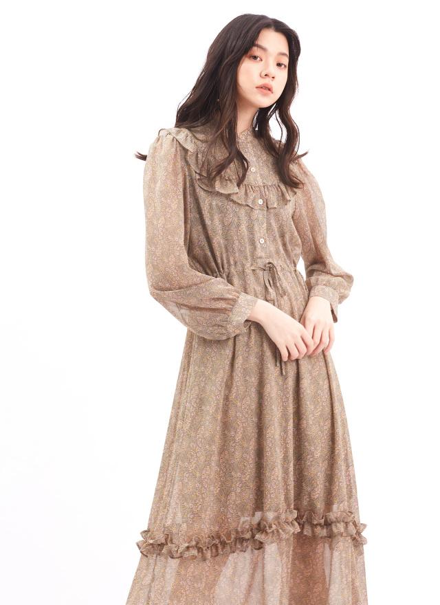 D1006蜜香薄荷圓領洋裝