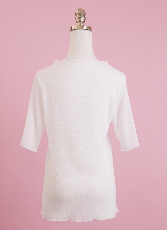 T0446 透膚三色上衣
