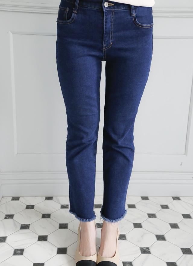 P0125 時尚顯瘦牛仔小寬褲
