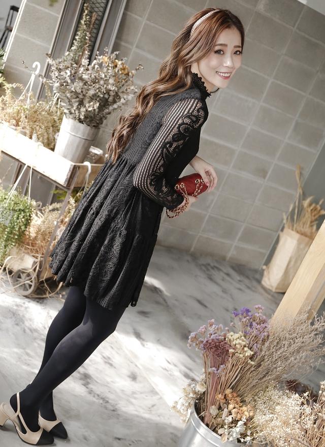 D0302 奢華宮廷蕾絲洋裝