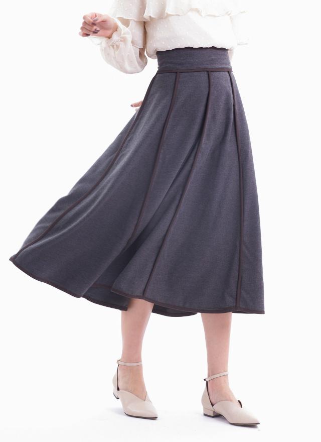 L0006雪倫英晝撞色傘裙(訂製)