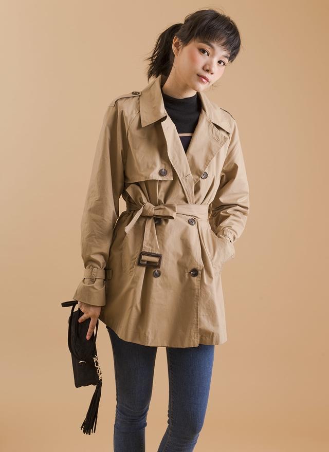 O0110 經典修身風衣外套