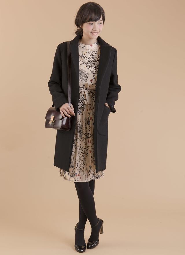 D0291 溫柔璨花雪紡百折洋裝