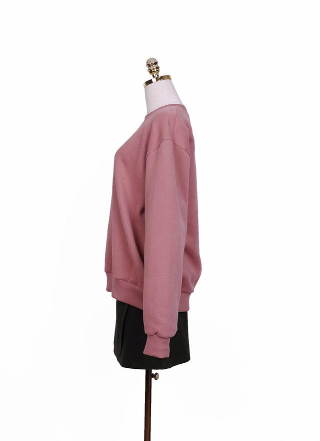 T0861 草莓粉色鋪棉上衣