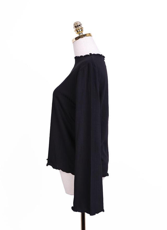 PA0001優雅線紋傘袖上衣