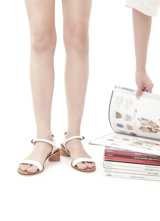 SH0233葛莎繫帶粗跟涼鞋(三色)