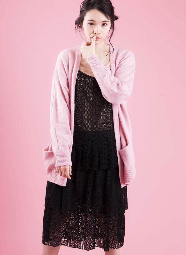 O0148 粉嫩針織柔綿外套