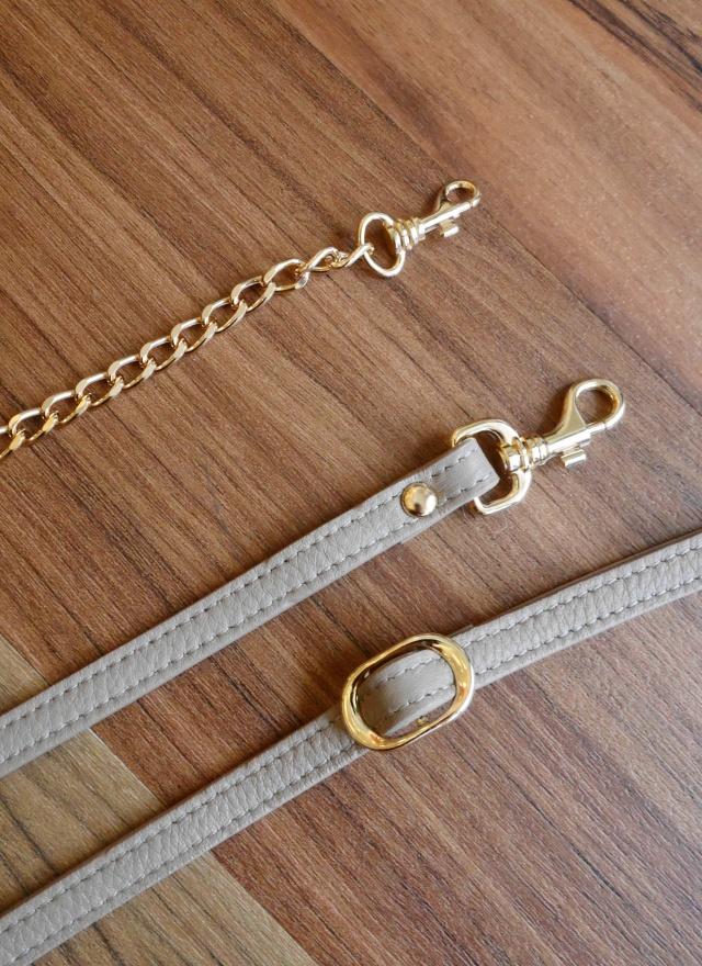 BA0111 山形紋雙帶鍊條包包(三色)(特惠)