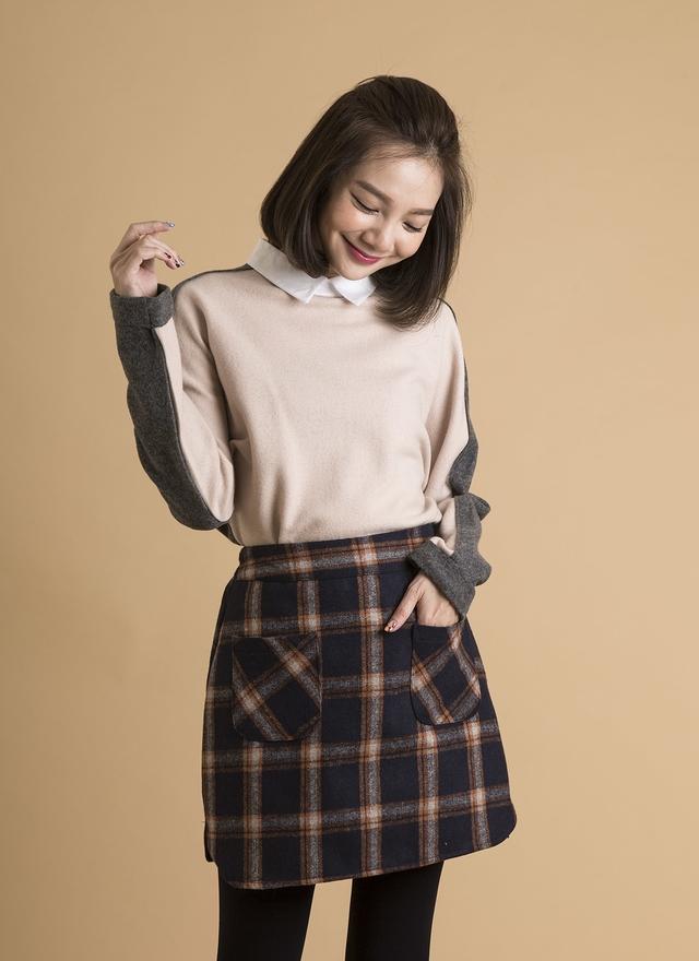 T0373 羊毛小領層次上衣