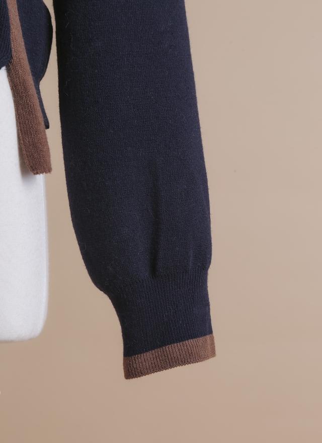 T0369 學院造型吊帶毛衣