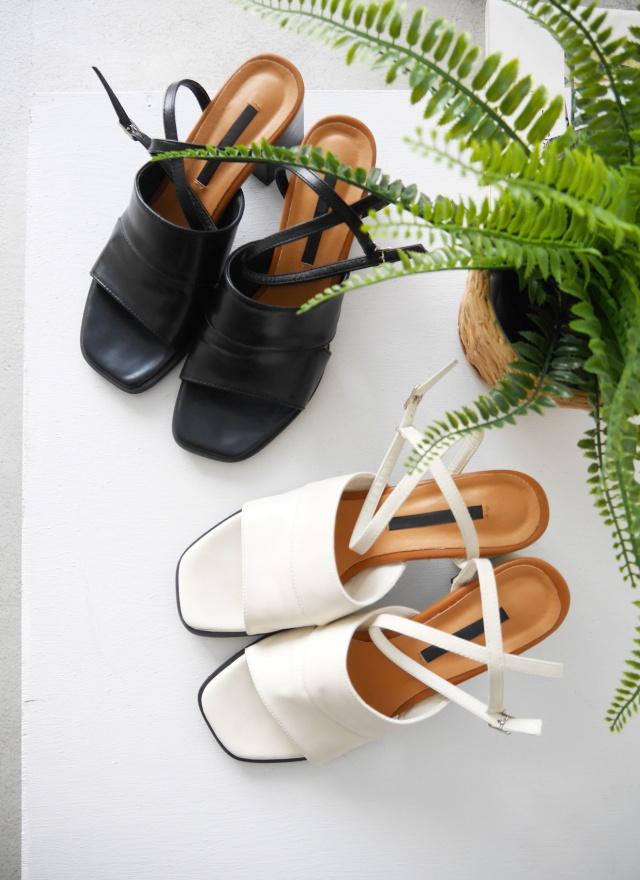 SH0149 美感皮革修飾方跟鞋