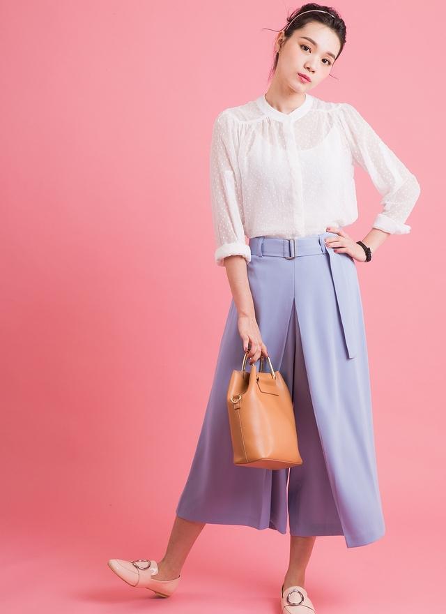 P0130 高質感垂墜寬褲裙