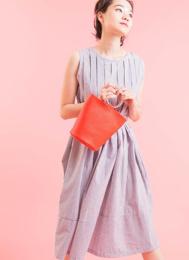 D0334 優雅直條層次洋裝