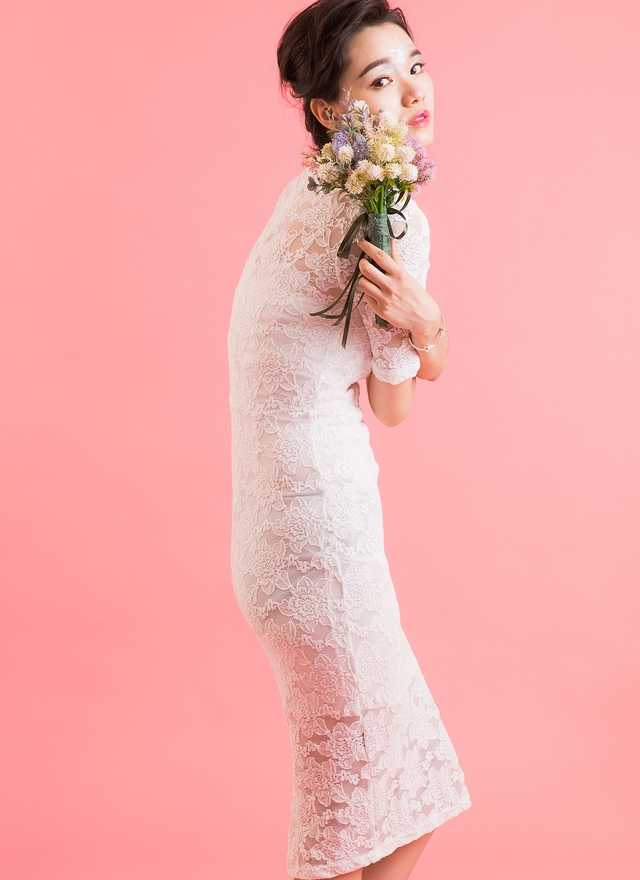 D0336 甜蜜婚禮魚尾洋裝