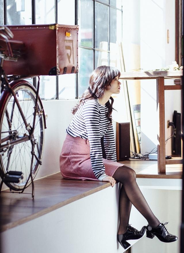 S0380 英式優雅粉紫圓裙