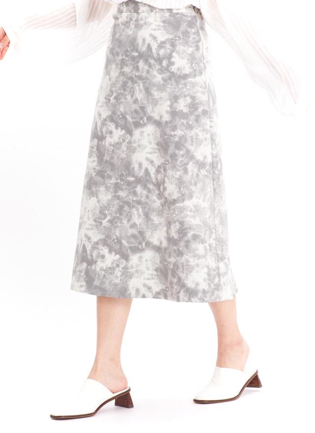 S0872浮蘿暈染造型裙(兩色)