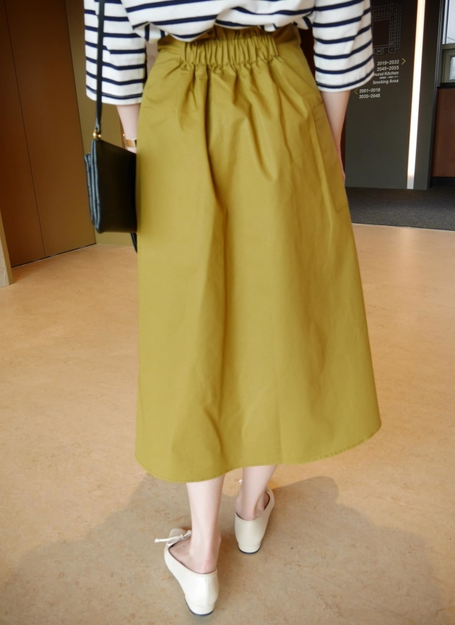 法式腰帶A字長裙