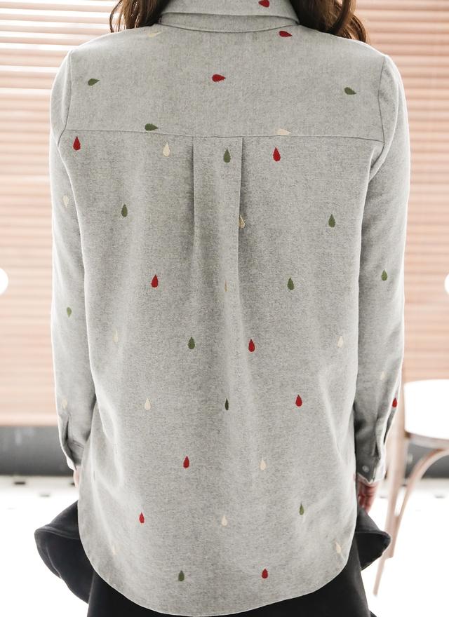 T0402 多樣色彩雨滴襯衫