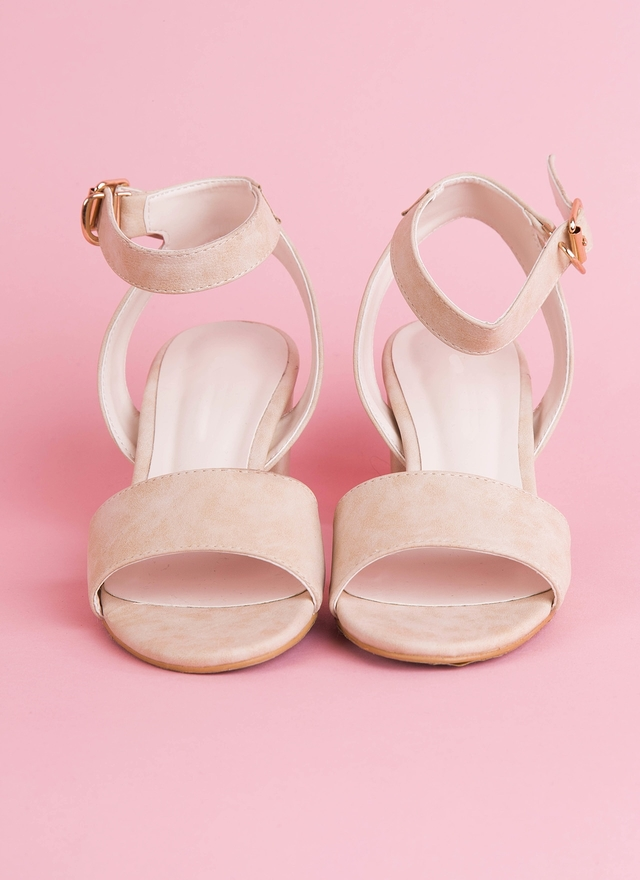 SH0057 金扣皮革橫帶涼鞋