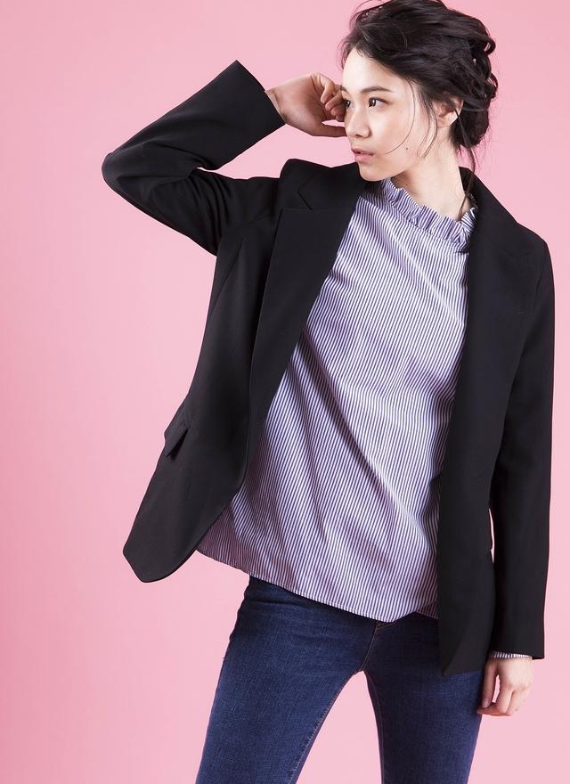 O0147 經典窄肩西裝外套