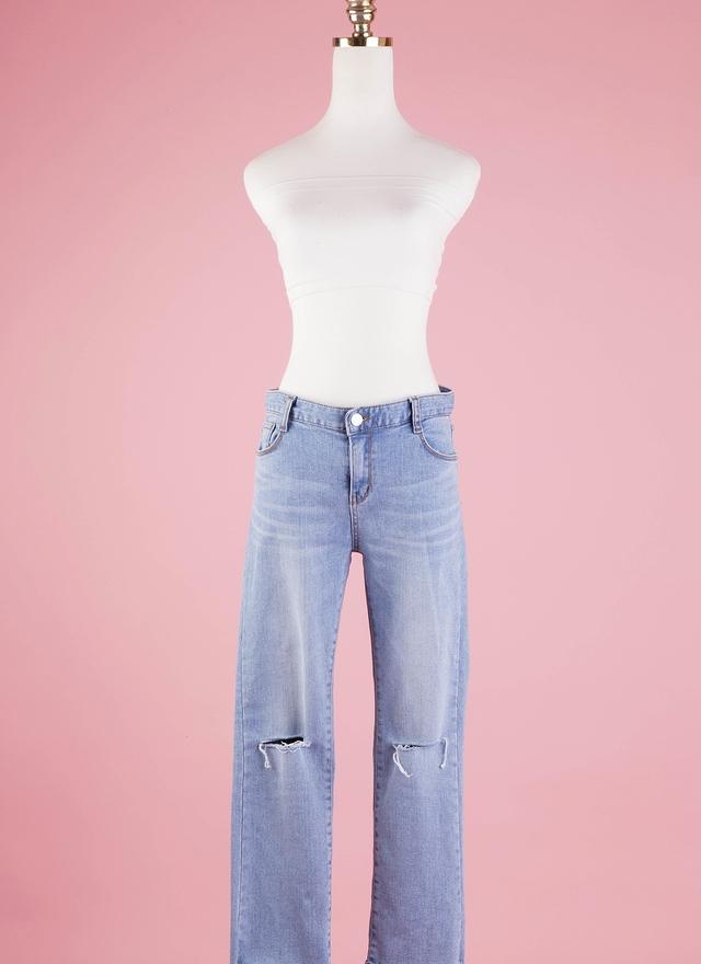 P0128 丹寧小喇叭褲