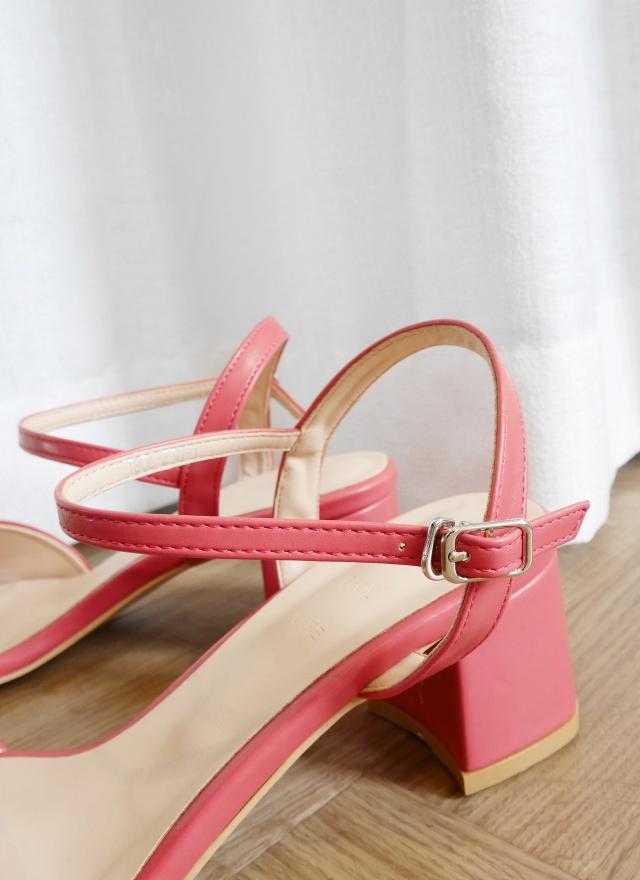 SH0140 糖果多色方頭粗跟涼鞋