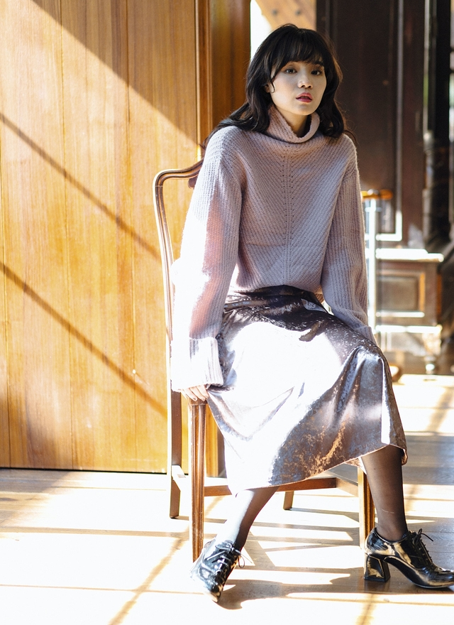 T0536 夢幻甜美高領毛衣