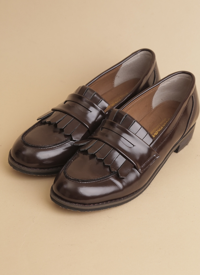 SH0043 低調光彩百搭樂福鞋