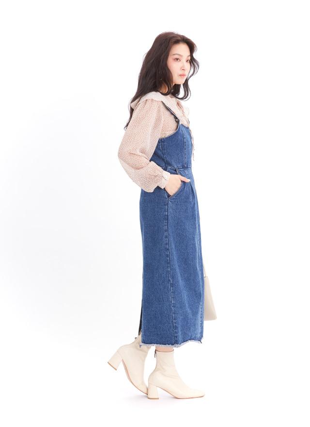 L0002蜜糖佳人牛仔洋裝(訂製)