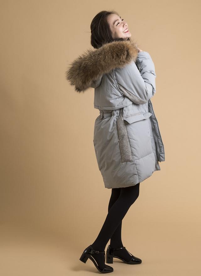 O0135 特級毛質羽絨拼接外套