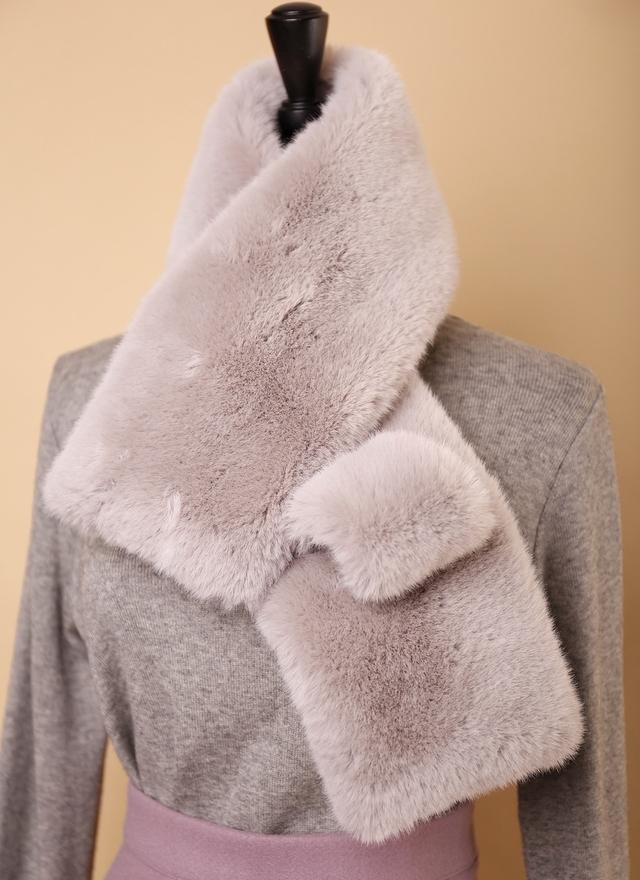 A0120 奢華感柔軟毛草圍巾