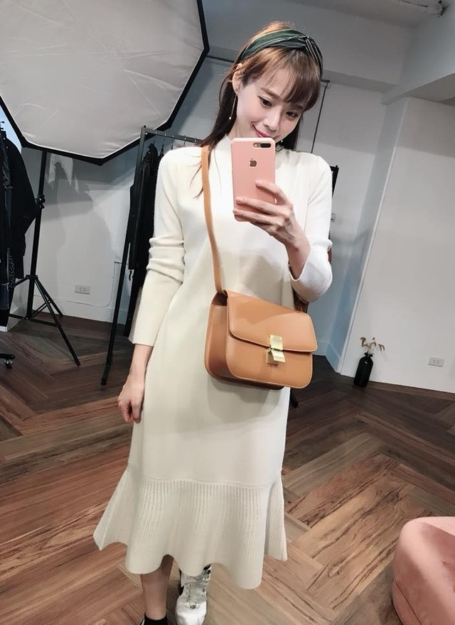 D0504舒柔針織連身洋裝