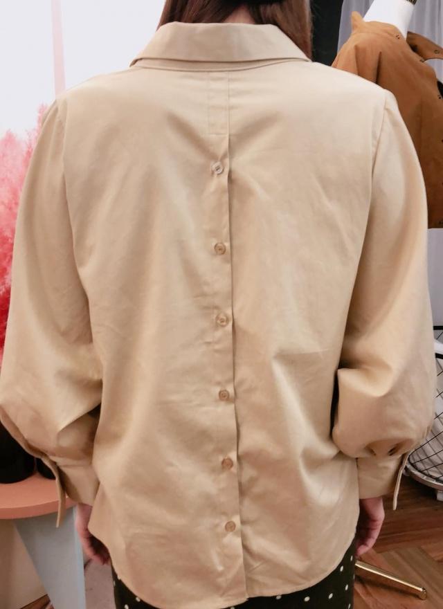 SP風格翻領寬鬆襯衫