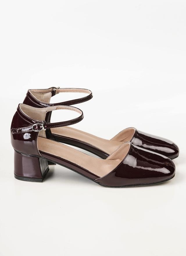 SH0069 素雅漆皮低方跟鞋