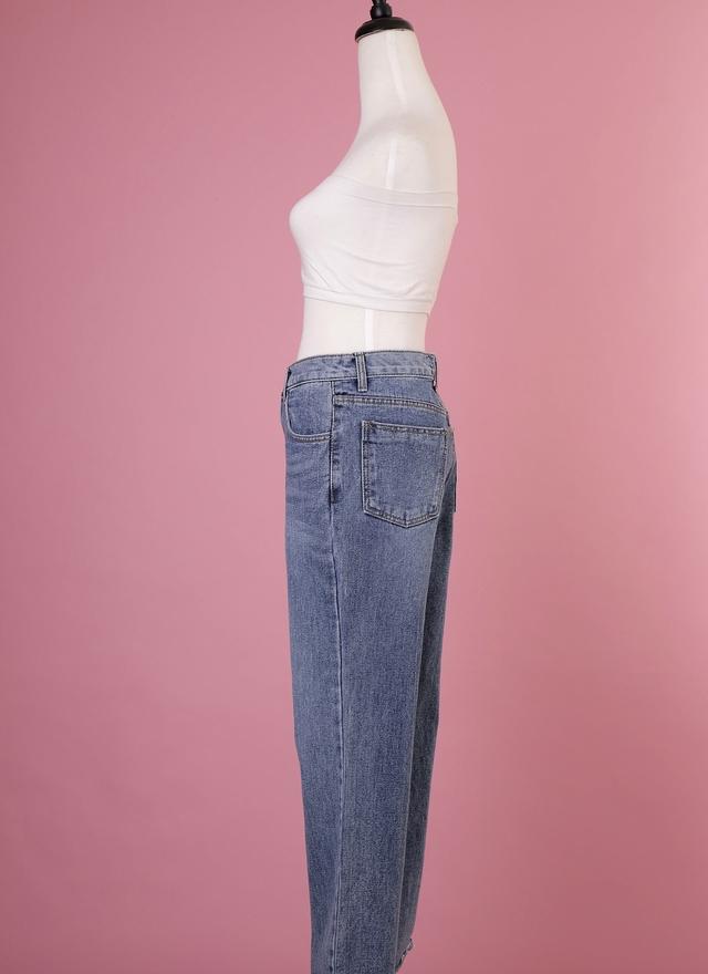 P0140 長腿牛仔單寧寬褲
