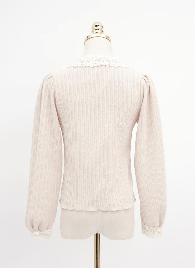 T1522菊羽小花造型上衣