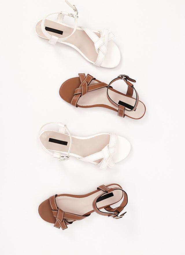 SH0227線紋蝴蝶結涼鞋(兩色)