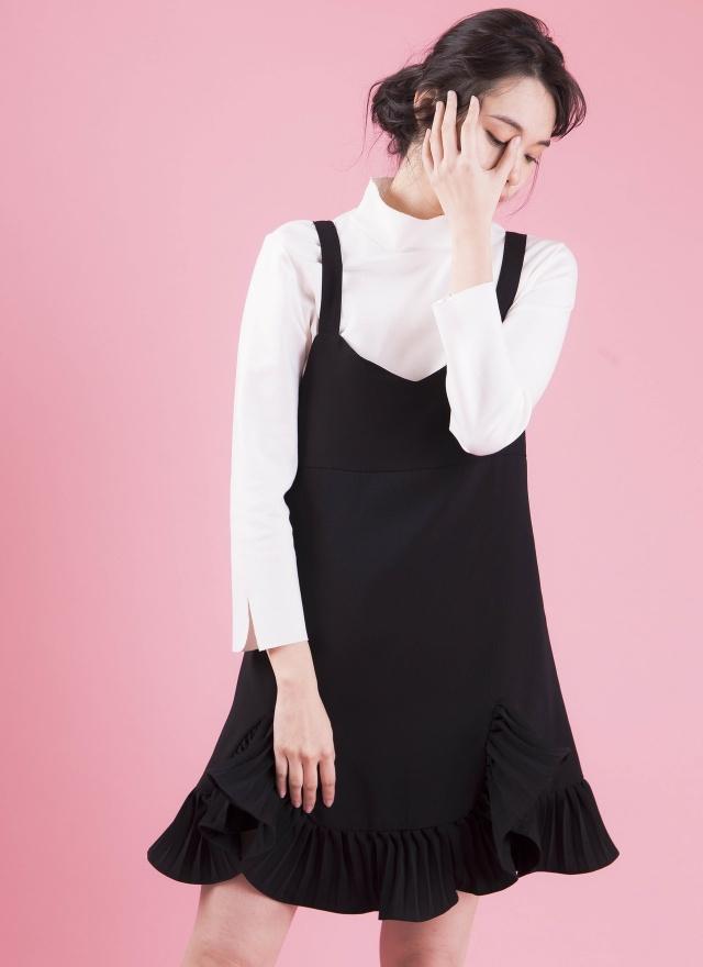 D0305 輕甜花擺細肩洋裝