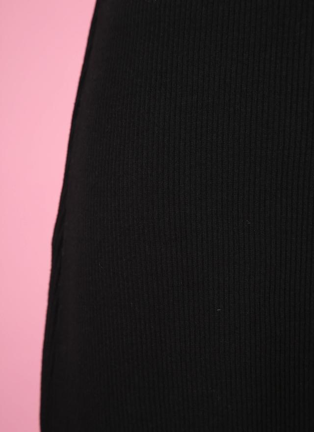 S0342 簡單素黑羅紋窄裙