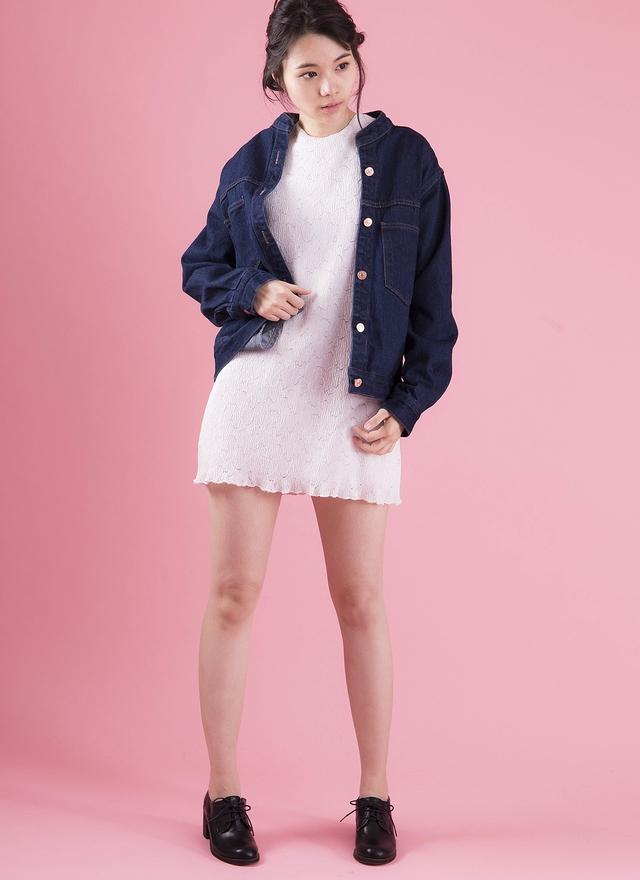 D0306 極簡優雅織紋洋裝