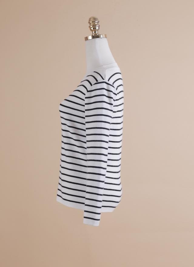 T0370 簡單日著橫紋上衣