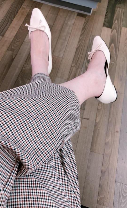 迷人蝶結平底鞋