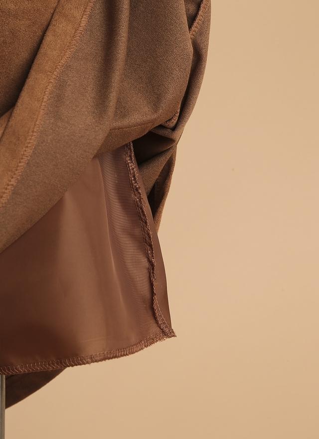 S0257 俏麗麂皮雙口袋短裙